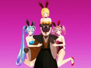 【MMD】 ウサギとタヌキ