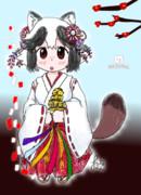 巫女タヌキちゃん