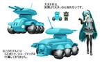 【MMDボトムズ】バララント軍装甲車スカラベ(モブ)配布