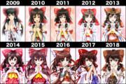 10 years 霊夢さん比較