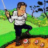 安倍氏のお正月ゴルフで・・・