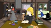 魔理沙と成美、勉強する