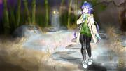 未明の庭園を散策する蒼姫ラピス