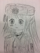 Bundespolizei Offizier Yoshinoya und uschanka