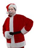 サンタクロースと化した平野店長PNG2