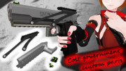 Colt government custom parts【MMDモデル配布】