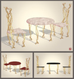 テーブルと椅子【MMDアクセサリ配布】