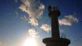 MMD静止画+実写加工「千葉県刑部岬 灯台の天辺で物思いに耽る少女」