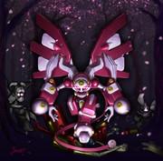 夜桜、血潮に染め上げて