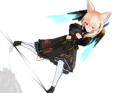 【MMD】ましろ式改変モデル:黒衣装ユノア_完成版_(960 x 720)