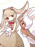 ロップイヤーちゃんと褐色白うさぎちゃん