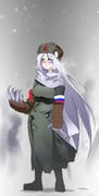 ロシアの雪とイワン