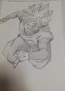 (模写) ゴクウブラック(ロゼ)描いてみた