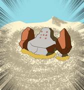 流砂にのまれるレジロック