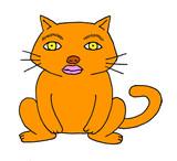 人顔動物② ネコ