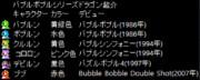 バブルボブルシリーズのドラゴン紹介
