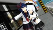 【MMD艦これ】あかひび百合デート【響提督の日常】