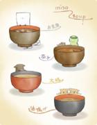 妖怪と味噌スープ