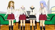 【MMDモデル配布】制服シリーズ。