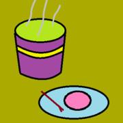 抹茶に練り菓子