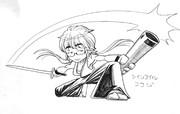 【抜刀の坂崎幸之助】推しがツインテールでも違和感なくかっこよく描く!