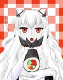 恵方巻を食べさせてくれる中ちゃん