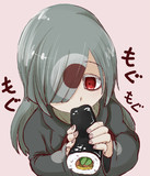 タタリちゃんが恵方巻食べてるだけの絵です。
