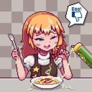スパゲティに粉チーズをかけてもらうSZ姉貴