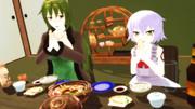 【Fate/MMD】冬の味覚を味わう親子