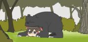 ある日森の中熊さんと