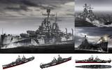MMD用モブ重巡洋艦1943(モブティモア)セット