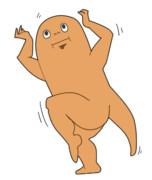楽しく踊るサンショウウオ