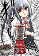 他人が貰ったバレンタインチョコを作り直す霞チャン。