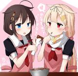 2人でチョコ作り