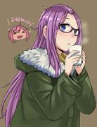 チャイを飲むお姉ちゃん