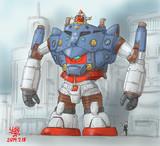 格闘戦型MS「デッカーガンダムŌ」