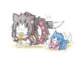 大和猫と散歩する鳳翔猫