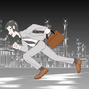 営業マン、夜の街を走る