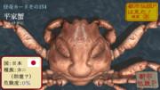 【怪奇カード-その154】平家蟹(へいけがに)
