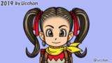 DQB2主人公のアニメ2(Live2Dで制作)