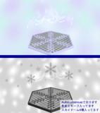 雪結晶ステージ【ステージ配布】