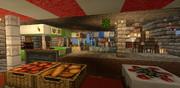【Minecraft】MCPEで西洋の街造り5~市場~
