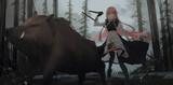 ヤナちゃんが槍とか包丁持ってイノシシ狩っているワイルドな絵見てみたいです