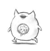 酒匂猫と深海浮き輪