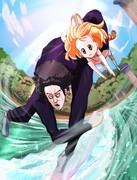 サーバルちゃんを抱えてあんいん橋を雪面の飛び魚で滑走する大泉洋