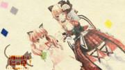 【19冬MMDふぇすと展覧会】.LIVE アイドル部 猫乃木もちと北上双葉で「猫の日」