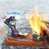 雪と傾福さん