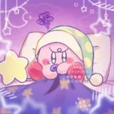 寝たくなくて涙目カービィ