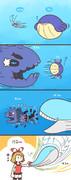 ヨワシとホエルコとホエルオーと人間の弱肉強食漫画