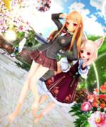 【今日のレア様】制服レア様と ユノアちゃん♡